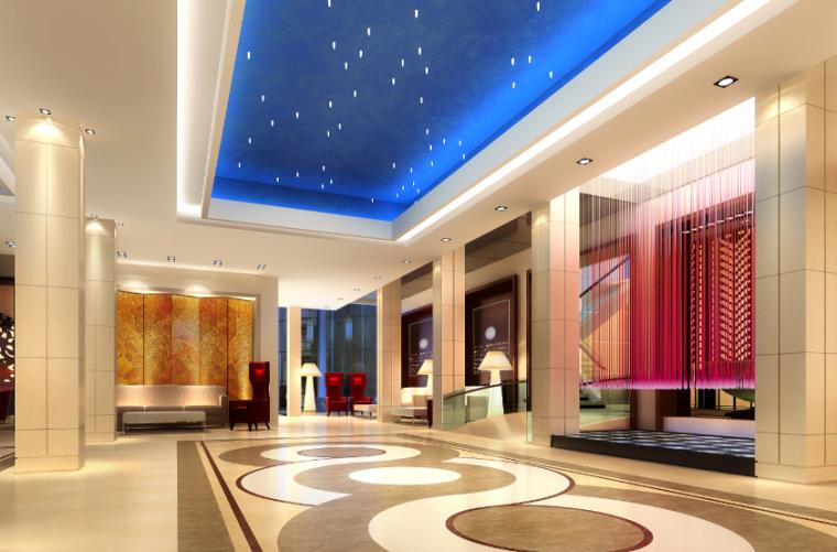 【福建】现代奢华酒店设计施工图(附效果图)_5