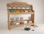 厨房木质调味瓶架3D模型
