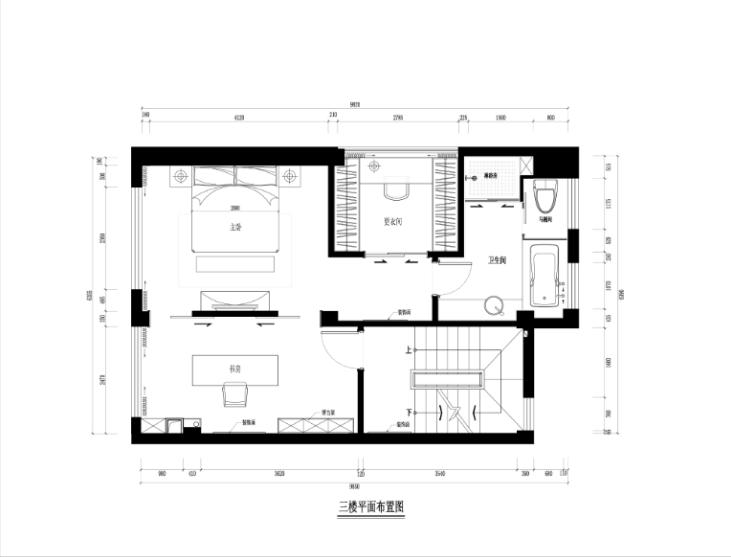 某中式建欧别墅室内装修设计施工图及效果图_4