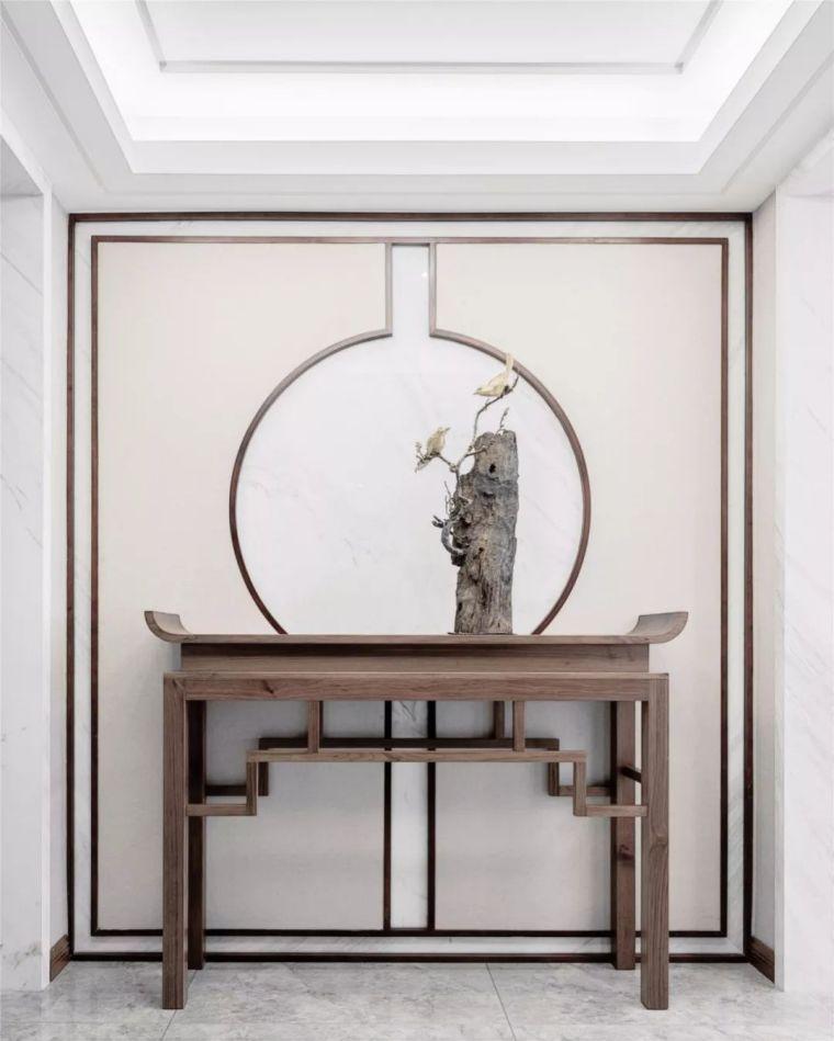 新中式徽派元素山水画为轴线的家装设计_5