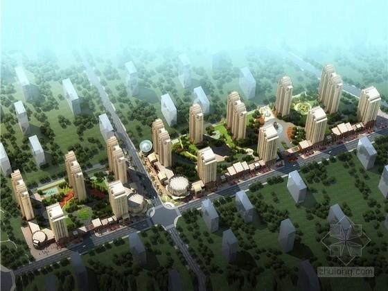 [河北]artdeco风格绿色节能示范小区规划设计方案文本(含异型底层商业)