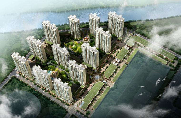 [湖北]襄樊万达广场现代高层商住综合体设计文本(JPG+CAD+PSD+Max)