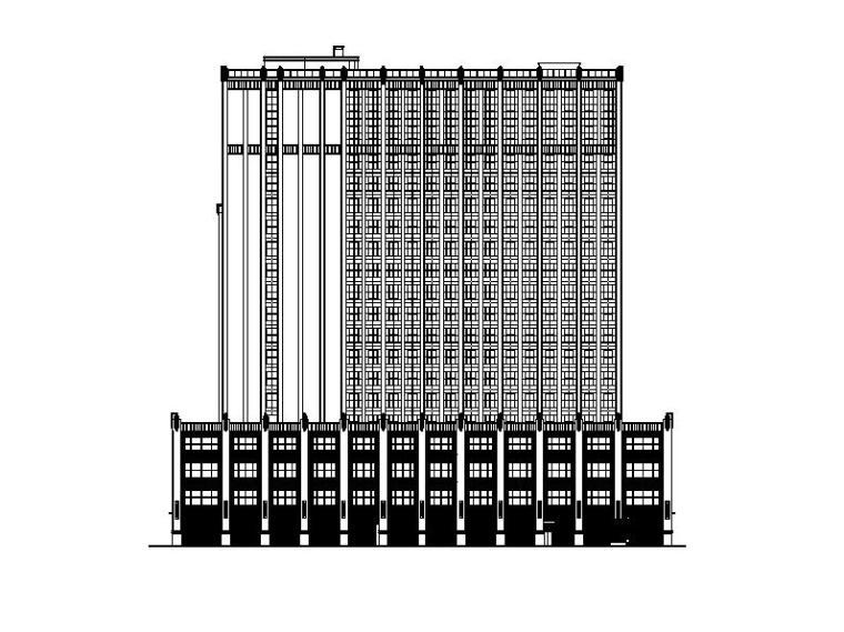 [福建]高层框架结构塔式酒店建筑施工图