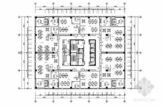 [南京]知名环保产业园现代风格办公楼装饰施工图