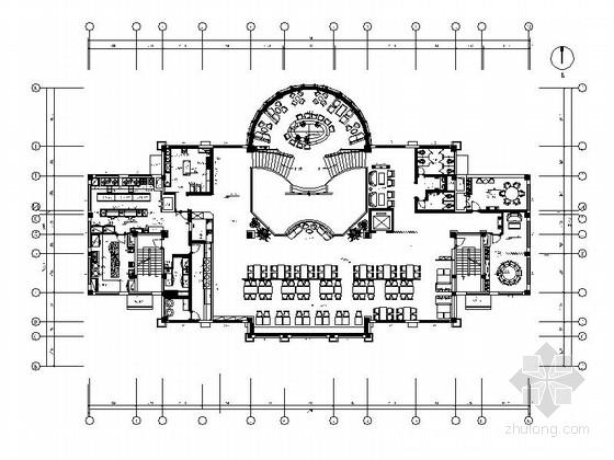[原创]大型商业餐饮娱乐综合休闲会所施工图(含效果图)