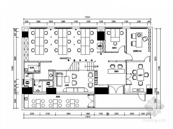 [原创]福州绿色清新主题办公空间施工图(含效果图)