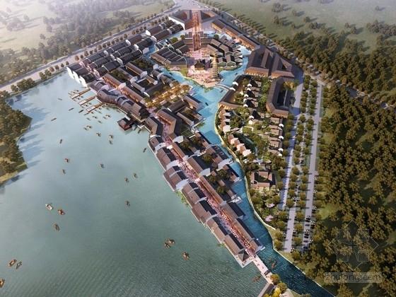 [湖北]滨水仿古商业区规划及单体设计方案文本
