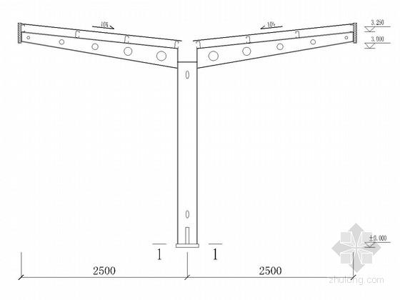 自行车车库钢结构方案图