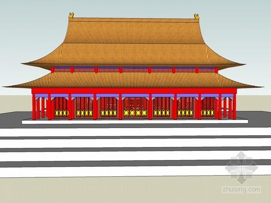 北京太和殿古建筑SketchUp模型下载