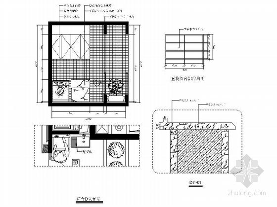 [福州]特色时尚住宅区现代简约两居室样板房装修图(含效果)阳台立面图