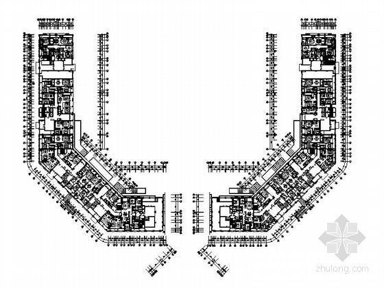 [浙江]全套精装高层样板房装修设计施工图(含效果)