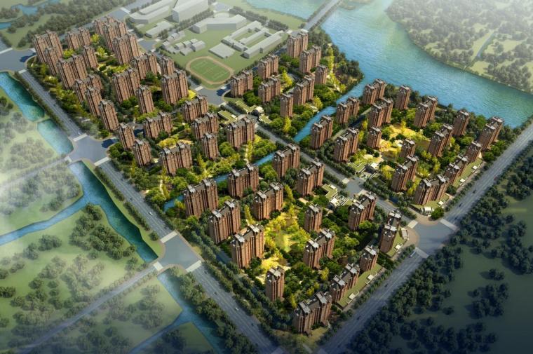 [上海]高层塔式多业态住宅楼建筑设计方案文本(含CAD)