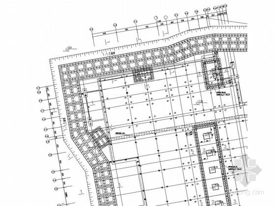 [上海]科研楼地下室基坑围护施工图(重力式搅拌桩挡土墙)
