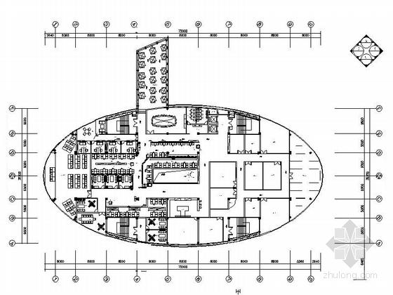 [成都]自然风情高档现代咖啡厅装修施工图(含效果)