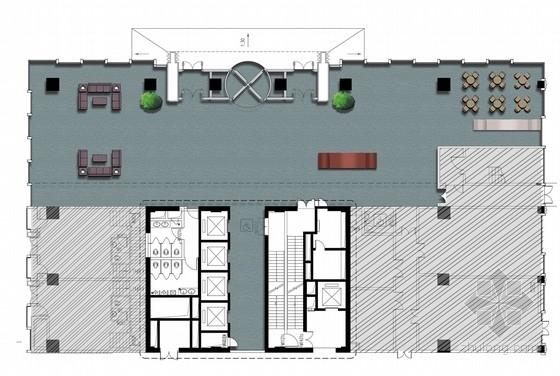 [江蘇]新中式典雅辦公樓公共區域室內設計方案(含效果圖)