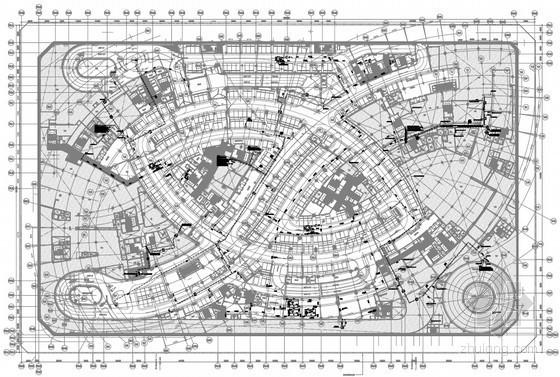 [辽宁]37万平大型商业广场项目给排水全套图纸(中水系统 虹吸雨水)