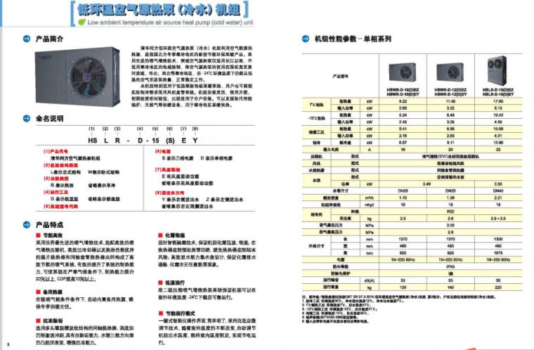 低温空气源热泵机组(户式)