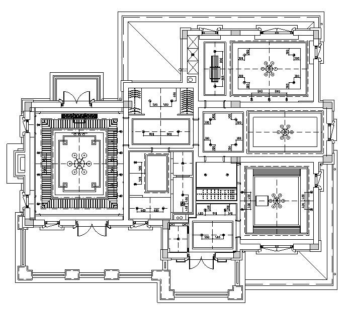 [山东]混搭风格别墅样板房设计施工图(附效果图)