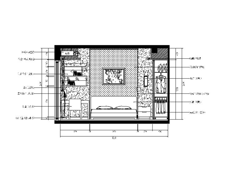 【重庆】新中式样板间设计CAD施工图(含效果图)_5