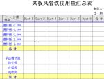 共板风管工程量计算表