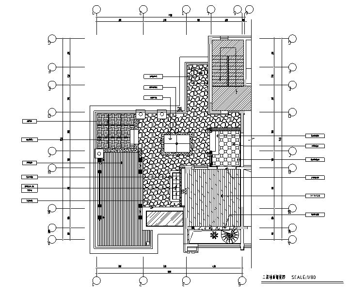 [辽宁]蓝白基调浪漫住宅空间设计施工图(附效果图)_1