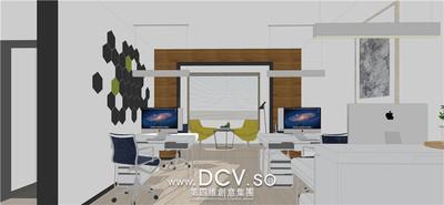 西安现代办公室内装修设计-曲江龙湖紫都城_2