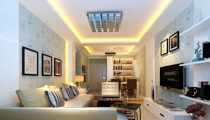 现代简约风格二居室95平米
