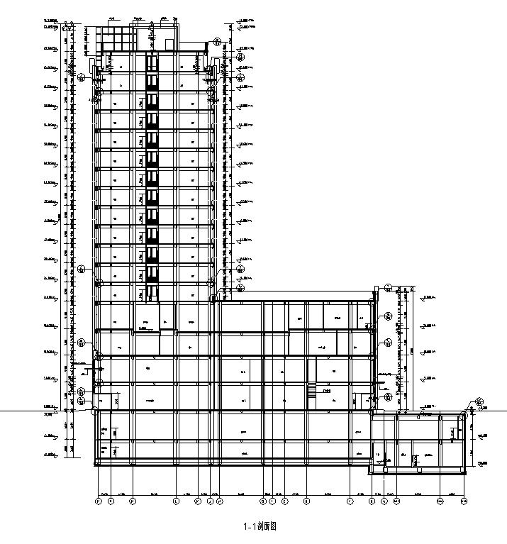 [内蒙古]高层框架结构办公、公寓及商业餐饮建筑施工图_2
