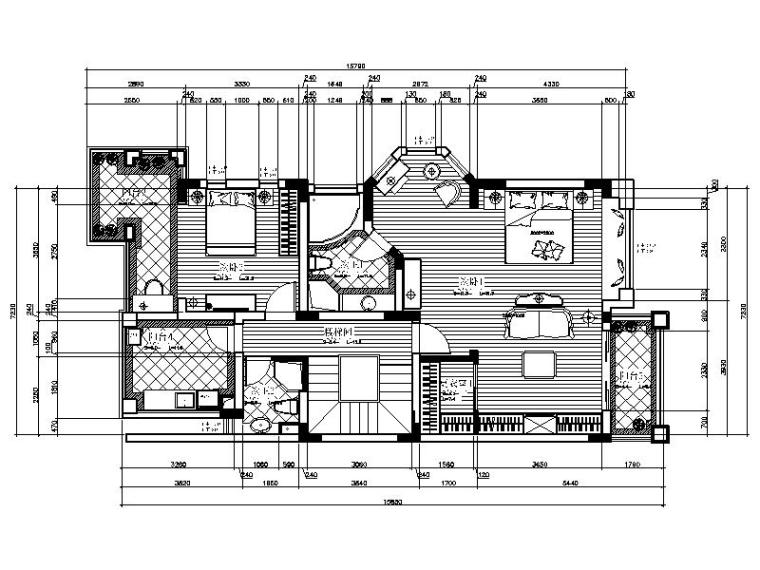 现代风格的豪华别墅设计施工图