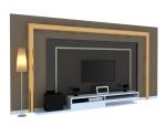精美电视墙3D模型下载