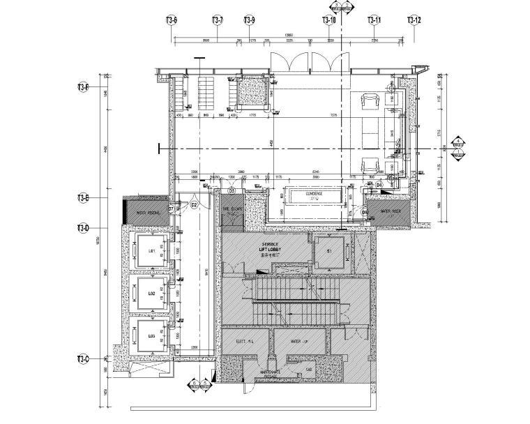 [深圳]华润大涌西塔T3公寓入户大堂+3套样板间施工图+物料表_3