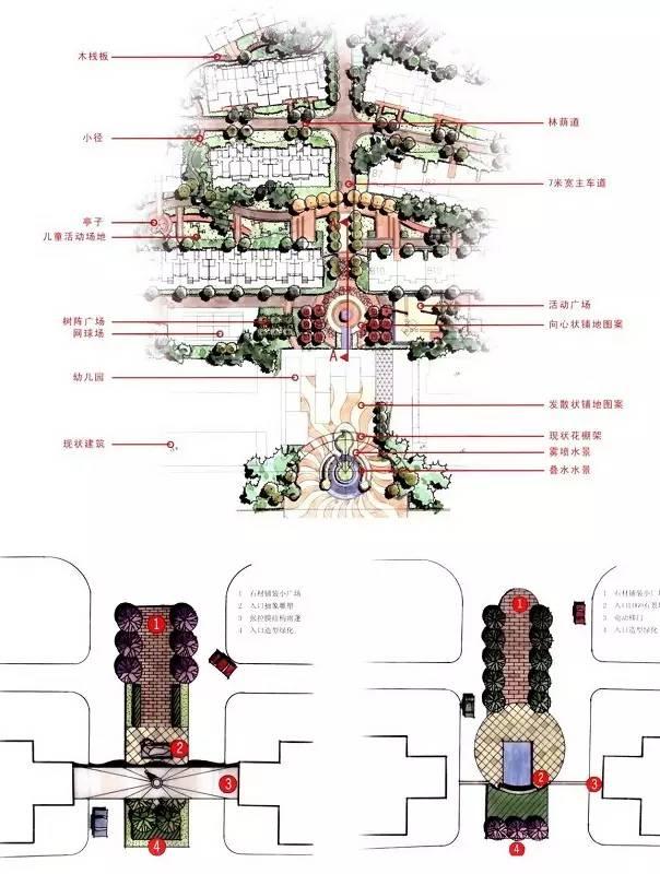 送你哒~100款入口景观设计平面图!!_56