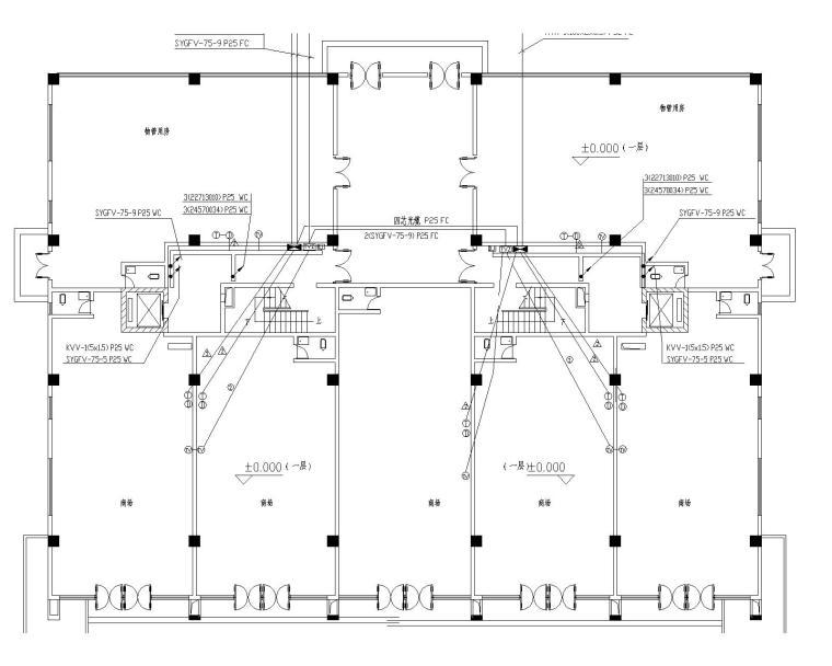 11+1图纸高层图纸(包括防雷接地,电气设计及敷导线选择篇专图片