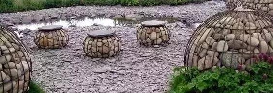 景观石笼|独特的植物容器_3