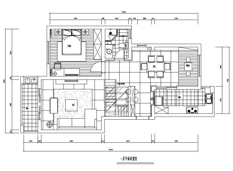 [江苏]简约150平米复式加跃层公寓设计施工图(附效果图)