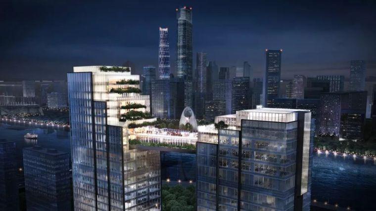 """广州又一标志性建筑—— 两座塔楼创新大胆的设计""""空中连桥"""""""