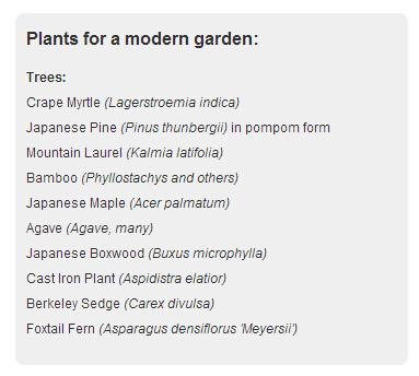 国际大师推荐现代园林植物
