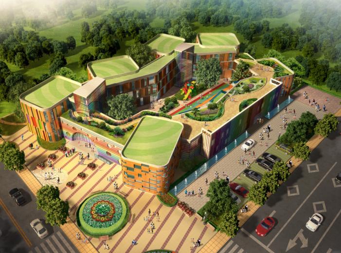 公建北大资源新幼儿园建筑设计方案文本(CAD+效果图)