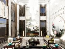 豪华中式室内设计sbf123胜博发娱乐模型(2018年)