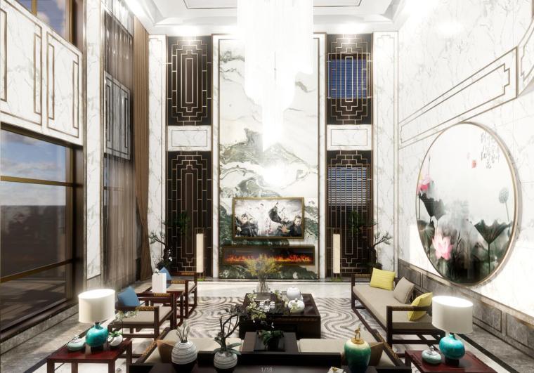 豪华中式室内设计建筑模型(2018年)
