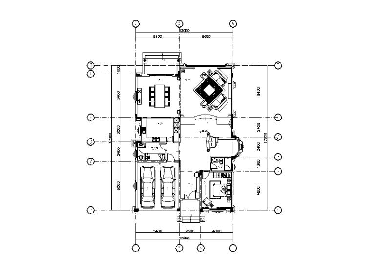 美式古典别墅设计CAD施工图(含实景图)