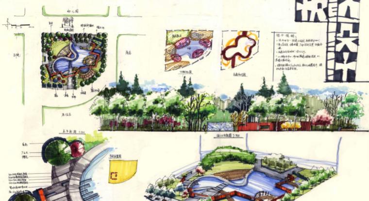 40套高分景观快题手绘设计方案_6