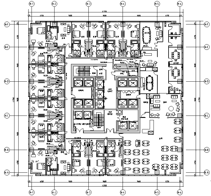 浙江大型商业购物广场电气施工图