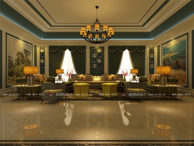 品筑出新作啦!内蒙古·兴安盟乌塔其银行室内设计效果图-21二层VIP接待室(一)02.jpg