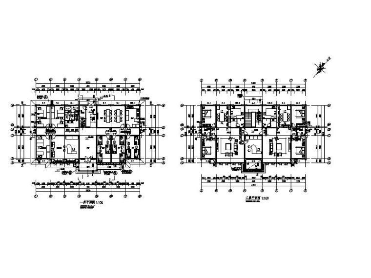 [宁夏]现代贴砖立面厂区综合楼及门卫室施工图-现代贴砖立面厂区综合楼及门卫室平面图