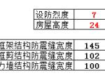 防震缝宽度计算表格(excel)