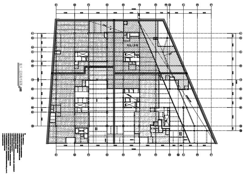 型钢与混凝土组合结构金融大厦结构施工图(CAD、PDF,83张)