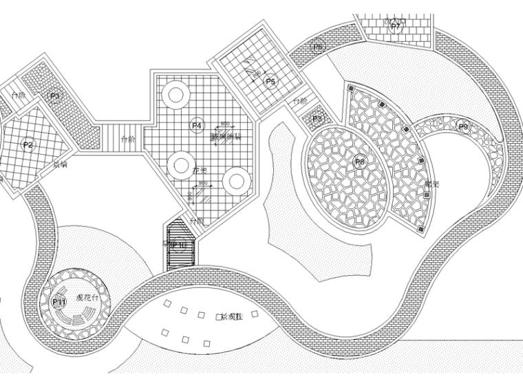 某园林花卉博览会人民公园园林施工图