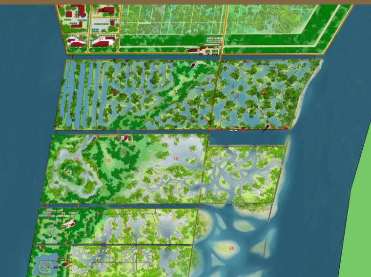 [廣東] 廣州南沙濱海濕地公園總體景觀概念設計(PDF+78頁)