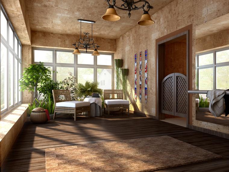 古典休息区3D模型下载
